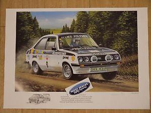 Ari Vatanen 1976 Tour of Britain Rallyart Print escort mk2 poster artwork art