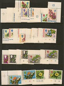 BERMUDA : 1970 Flowers definitives set SG249-65a never-hinged  mint