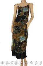 Robe ALFI voile doublé Tail 38 M 2 asymétrique imprimé floral Volant TBE Dress