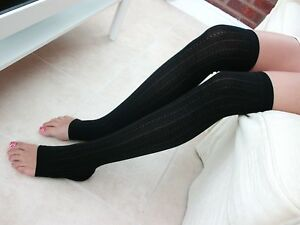 1 PAIR GIRLS / LADIES TOELESS OVER  KNEE SOCKS **GREAT DESIGN* one size fits ALL