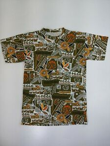 Vintage African All-over Print Style T-shirt Indigenous Tribal Art