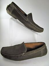 Aston Grey 9.5 Brown leather Nubuk Driving Mocs Patric 2 Loafers