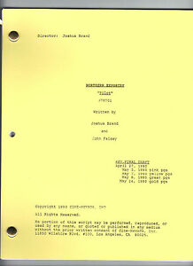 "NORTHERN EXPOSURE show script ""Pilot"""