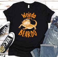 New listing Bearded Dragon Shirt, Pet Reptile Lover Gift, Black Cotton Tee Fullsize S-5Xl
