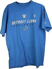 NFL Reebok Detroit Lions Equipment  Adult T-Shirt Blue XX-Large