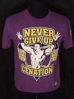 John Cena WWE Never Give Up Cenation U Can't See Me Mens Medium M Purple T-shirt