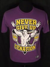 John Cena WWE Never Give Up Cenation U Can't See Me Mens Medium M Purple T-shirt