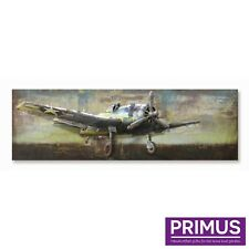 Primus American Iron Plane 3D Hand Crafted Metal Wall Art / Sculpture Stunning!