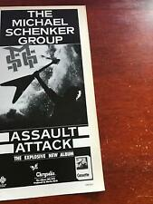 1983 Vintage 5X11 Album Promo Print Ad Msg Michael Schenker Group Assault Attack