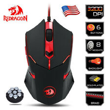 Redragon M601 CENTROPHORUS 3200dpi Gaming Mouse for PC 6 Buttons Weight Tuning