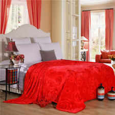 Blanket & throws Thin Quilt Bed cover Spring Multifunction Blanket red rose Big