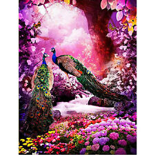 DIY 5D Diamond Embroidery Painting Peacock Flower Cross Stitch Home Docer