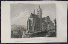 Breisach am Rhein, Münster. ORIGINALE ACCIAIO chiave di circa 1850