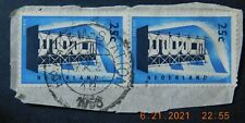 """1956,Netherlands Pair Of 25 C light blue / black """"EUROPA"""" FDC Collectible Stamps"""