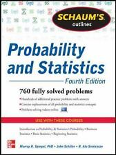 Probability and Statistics : 760 Fully Solved Problems by Murray R. Spiegel,...