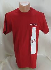 COCA COLA T Shirt Red 100% Cotton Size Medium Fruit of the Loom