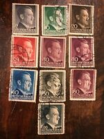 Complete 1943 MNH stamp set / German occupation / Adolph Hitler / Poland  /
