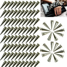 100x 2.6cm 26mm Spots Cone Screw Metal Studs Leather Craft Rivet Bullet Spikes