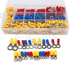 650PCS Assorted Insulated Ring Crimp Terminals Electrical Wire Connectors Kit K6