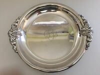 """Vintage Rare Wallace Colonial EPNS Round Serving Tray Bowl, 14 1/2"""" x 12 1/2"""""""