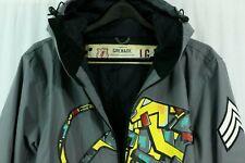Grenade Fatigue Project Men's Size L Snowboard Ski Jacket Printed Colorful Grey
