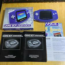 Nintendo Gameboy Advance Console Indigo Purple Boxed