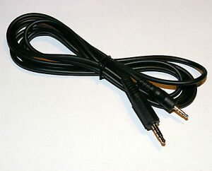 4 Pole 2.5mm to 3.5mm Jack plug to plug Cable 1.8m
