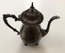 "Antique Vintage Sheridan silverplate coffee/tea pot 10""tall feet to finial"