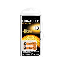 ★12 BATTERIE DURACELL EASY TAB 13 PR48 1.45 V SPECIALISTICHE ARANCIO DA13N6★