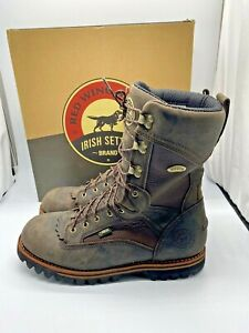IRISH SETTER 880 ELK TRACKER HUNTING BOOTS MENS SIZE 13 D 2ND FLAW RED WING