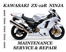 Kawasaki ZX12R Ninja Service Repair Manual ZX-12R ZX 1200 Maintenance 2002-2006