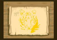 Majestic Tiger Face, Stencil 350 micron Mylar not thin stuff #Tiger011