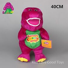 NEW Purple Barney The Dinosaur Sing I LOVE YOU Song Plush Soft Toy Doll 40cm BIG