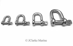 D Shackles Dee shackle 4mm 5mm 6mm 8mm marine grade stainless steel (316 A4)
