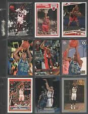 DONYELL MARSHALL ~Lot of (9) Different Basketball Cards w/ Display Sheet~ (L93)