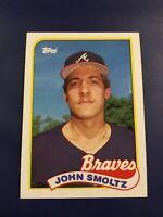 1989 Topps # 382 JOHN SMOLTZ ROOKIE RC Atlanta Braves Sharp !