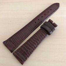 18mm High Quality Genuine Alligator Gatorskin Leather Watch Band Dark Brown