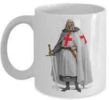 Knights Templar coffee mug - Jacques de Molay - Masonic accessories gift