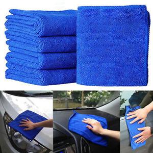 BLUE Microfibre Cleaning Auto Car Detailing Soft Cloths Wash Towel Duster  4-10p