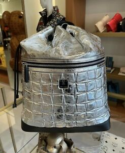 Last One! On Sale! MCM Unsex Light Silver Medium Size Backpack $1320+Tax