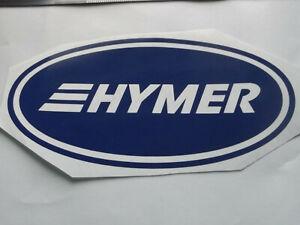 HYMER LARGE Vinyl Stickers large Caravan Camping  set x4
