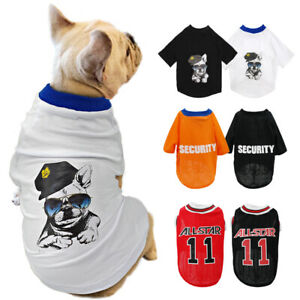French Bulldog Clothes Dog Cat Soft Cotton T-Shirt Pet Puppy Summer Mesh Vest
