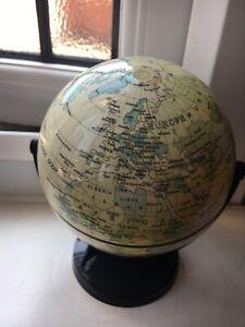 Original 30s Revolving Art Deco Bakelite Desk World Globe Will Post Worldwide 🌏