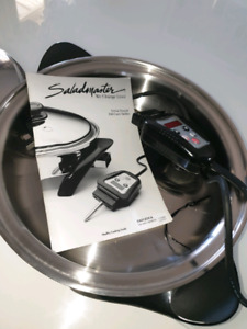 Salad master Electrical skillet Titanium stainless steel Frypan 12inch Used once
