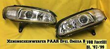 NEU Xenon Scheinwerfer PAAR Opel Omega B VOR Facelift Hauptscheinwerfer chrom