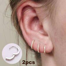 925 Silver Hoop Cartilage Helix Earring Rook Piercing Earring Nose Piercing Ring