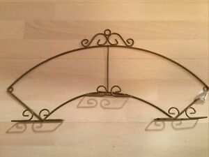 Collector plate holder brass. Holds 3 Plates. 24 Inch At Widest Point.