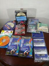 Blank Media Lot vhs Cd Cassette Tapes New In Original Packaging