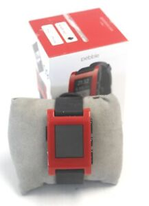PEBBLE 301RD Smartwatch Cherry Red for Android and iOS Spares/Repairs - A12