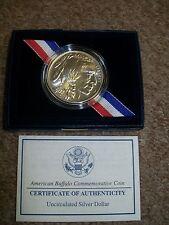 2001 American Buffalo Commemorative Unc Silver Dollar